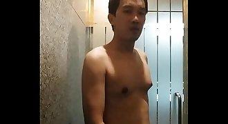 Gay wanking bathroom