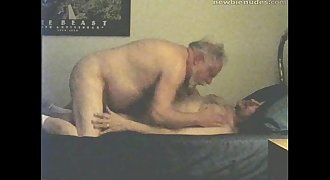 Grandpa has sex with grandson when grandma is out