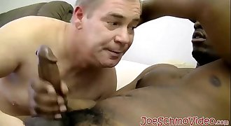 Big daddy cant stand against deepthroating that big black cock