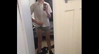 Sexy teen gay school boy wank